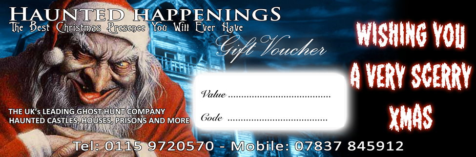 Haunted Happenings Christmas Gift Voucher